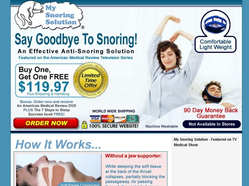 my snoring solution official website
