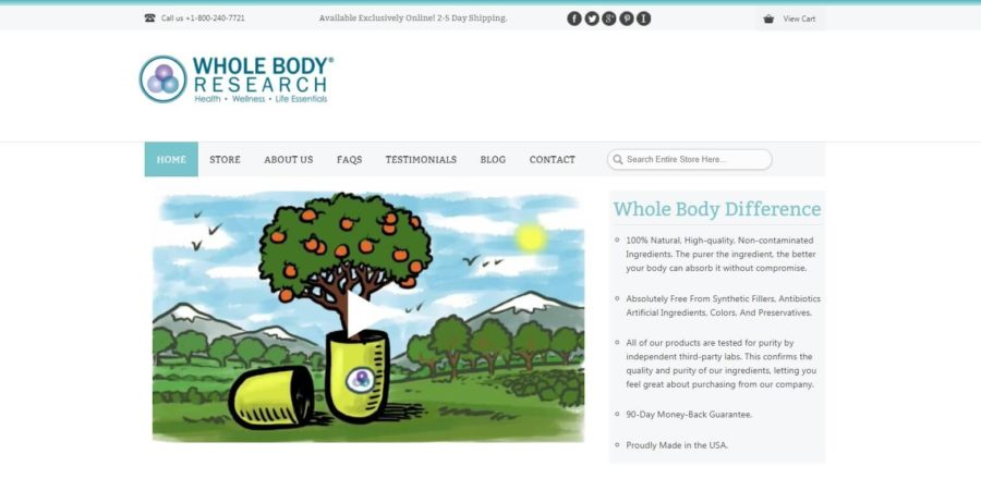 Whole Body Research Official Website