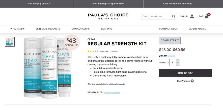 paula's choice clear official website