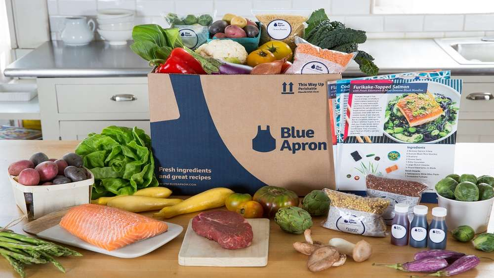 blue apron package