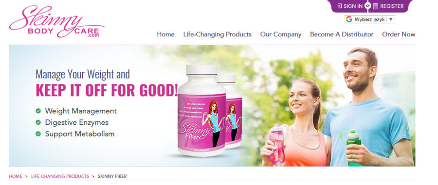 skinny fiber official website