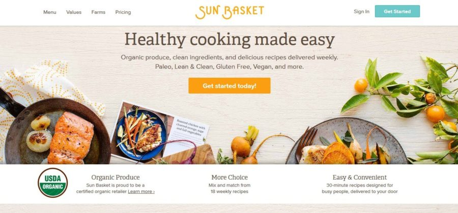 sun basket- official website