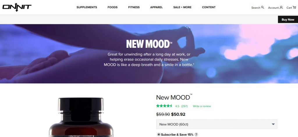 Onnit New MOOD official website