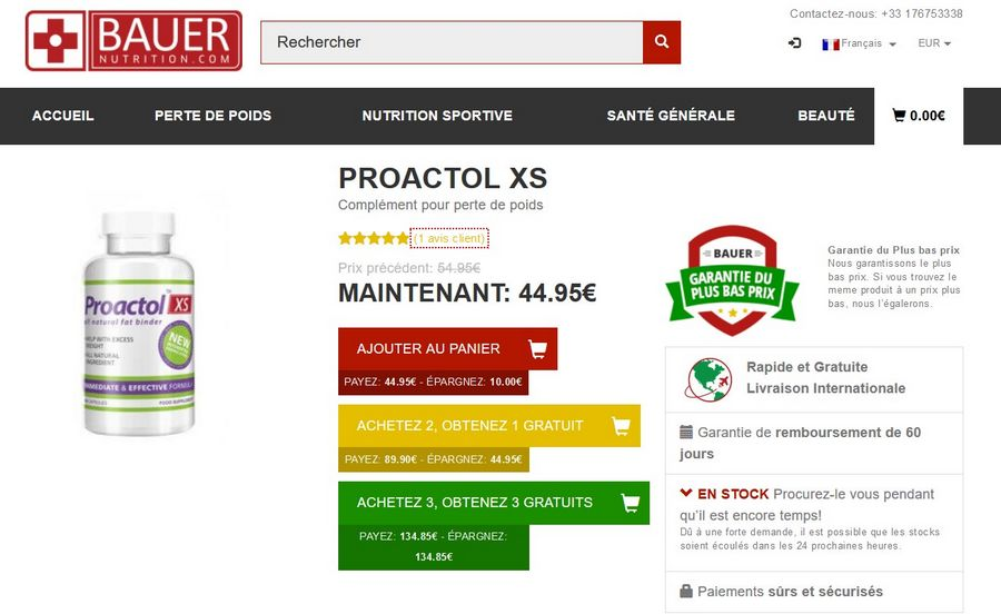 proactol xs site officiel