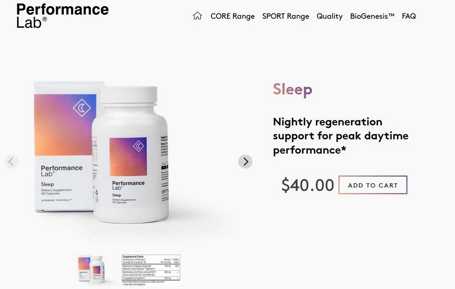 performance lab sleep official website