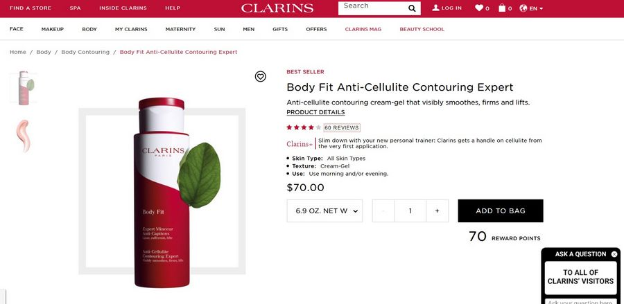 clarins body fit official website