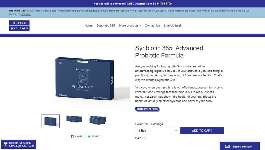 Synbiotic 365 official website
