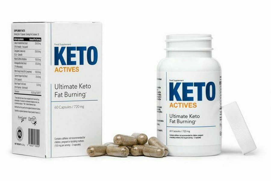 Keto Actives bottle and pills