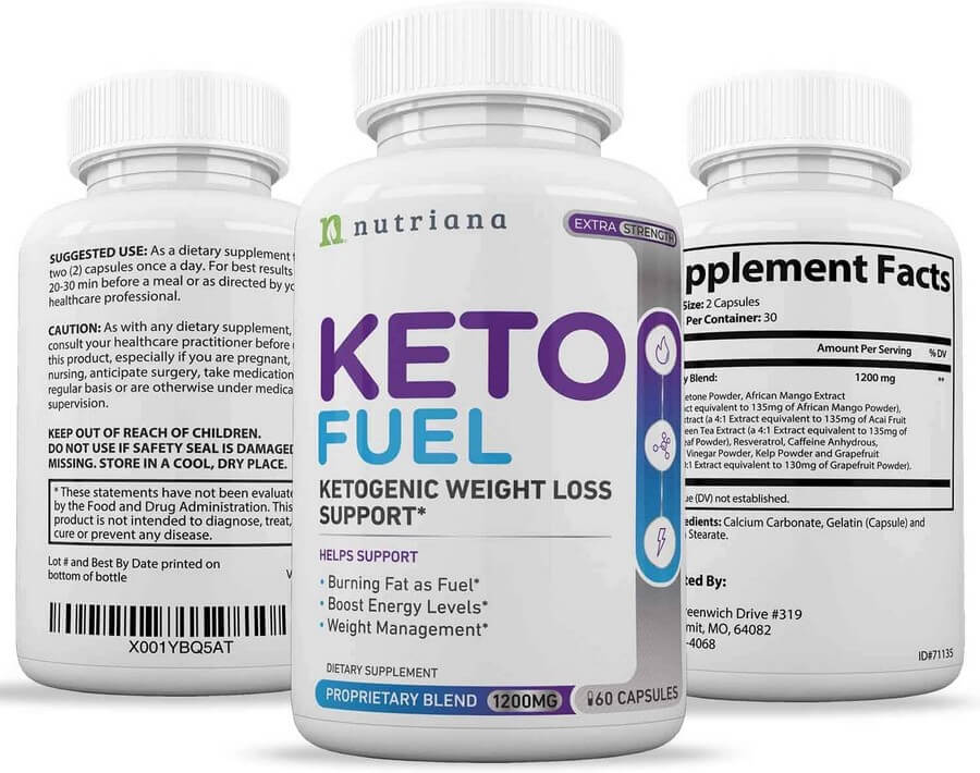 Keto Fuel bottles